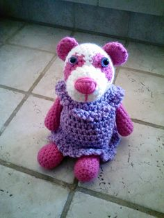 Precious Pandas Dress Version 3  A free crochet pattern on Ravelry and Craftsy.