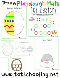 Free Easter Playdough Mats