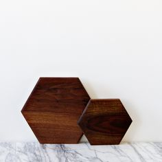 walnut serving board | hexagon
