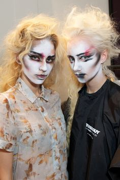 Backstage at Vivienne Westwood Red Label RTW Spring 2014 [Photo by James Mason]