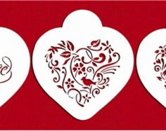 Love Birds Heart Stencil Set for Cookies Cakes & by LilyBearLane