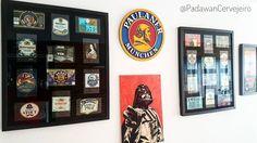 O Hall of Fame do PadawanCervejeiro  Em breve colocarei os outros pra finalizar a parede  #PadawanCervejeiro #halloffame #cheers #prostpaulaner #paulaner #rotulos #labels #cerveja #beer #Biere #bier #cervejasartesanais #craftbeer #beernerd #beerporn #recife #pernambuco #piwo #beertography #birra #olut #darthvader #starwars #quadros #decoracao #bar #pub