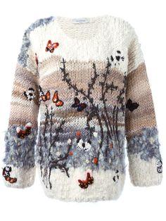 Valentino Butterfly Intarsia Sweater - Spinnaker 101 - Farfetch.com