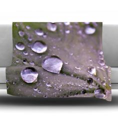 East Urban Home Water Droplets Fleece Throw Blanket Size: 80'' L x 60'' W, Color: Purple