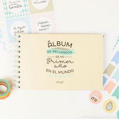 Álbum para bebé - ¡Hola mundo! Mi primer añito - Mr. Wonderful
