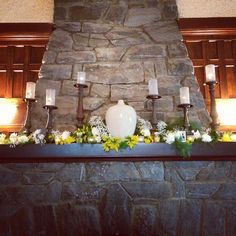 Gorgeous mantle work in the Great Room at Homewood, Asheville Wedding Venue #ashevillewedding #homewoodwedding #ashevilleweddingvenue