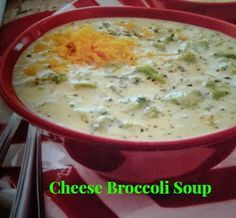 Cheese Broccoli Soup made in a crock pot.
