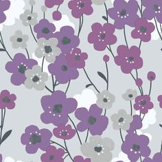 Blossom Purple wallpaper by Galerie