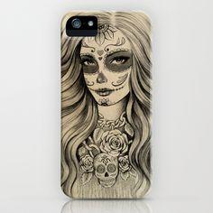Sugar Skull iPhone Case by Vivian Lau - $35.00