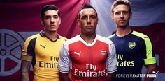 Camisas do Arsenal 2016-2017 Puma