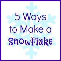 5 ways to make a snowflake plus information about sending them to Sandy Hook