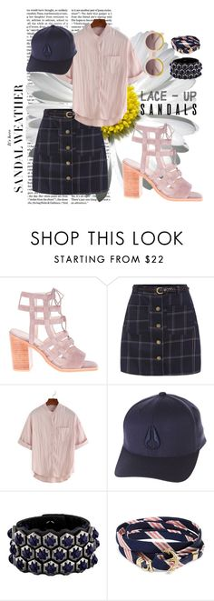 """Blush"" by emma99-g on Polyvore featuring Sol Sana, Nixon, Giles & Brother, Brooks Brothers, contestentry, laceupsandals and PVStyleInsiderContest"