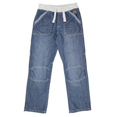Older Boys Rib Waisted Denim Jeans