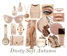 Dusty Soft Autumn by prettyyourworld on Polyvore featuring Alice + Olivia, Alaïa, Tory Burch, Movado, BillyTheTree, Rachel Jackson, Bing Bang, Beats by Dr. Dre, Chantecaille and Christian Dior