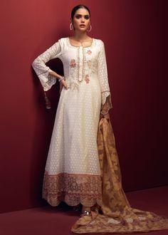 NIHAAL – LAAM Cotton Silk, Cotton Fabric, Pink Fabric, Scallops, 3 Piece, Lotus, Size Chart, Cold Shoulder Dress, Sari