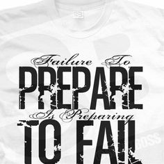 John Wooden Quote This is so true.  That is why we plan our meals so we don't go over our points.  Preparation is every thing.