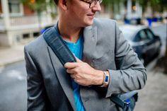 Man's Silver Fit Bit Bracelet for Fitbit Flex by Creek Reflections for $185