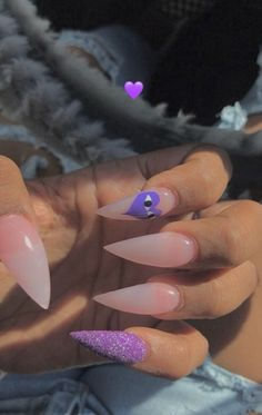 for more poppin' pins like this! Aycrlic Nails, Sexy Nails, Glam Nails, Stiletto Nails, Trendy Nails, Nails On Fleek, Hair And Nails, Fire Nails, Cute Acrylic Nails