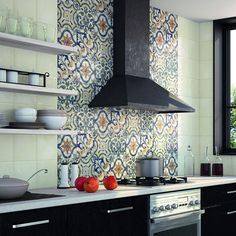 Bestow an attractive look to your home by adding this Merola Tile Bourges Mondo Ceramic Wall Tile. Kitchen Tiles, New Kitchen, Kitchen Cabinets, Awesome Kitchen, Kitchen Floor, Ceramic Wall Tiles, Porcelain Tiles, Küchen Design, Design Ideas