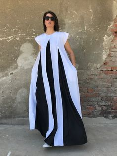 Linen Maxi Dress Linen Stripe Dress Plus Size Linen Dress Striped Prom Dresses, White Linen Dresses, Striped Dress, Dress Black, African Print Fashion, African Fashion Dresses, Fashion Prints, Kaftan Designs, Ankara Dress Styles