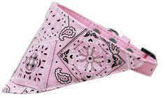 Bandana collier de chien  Lumière rose occidentale  par DirtRoadDog