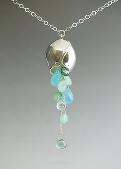 Large Pod with Gemstone Cluster: Catherine Grisez: Silver & Stone Necklace | Artful Home