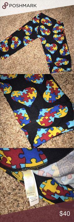 Lularoe leggings nwot tween Autism puzzle pieces Lularoe leggings nwot tween Autism puzzle pieces LuLaRoe Pants Leggings