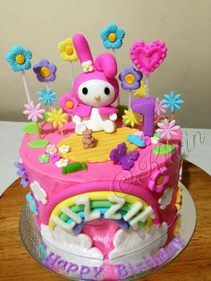 Hello Kitty My Melody Cake The Cherry on the Cake Pinterest