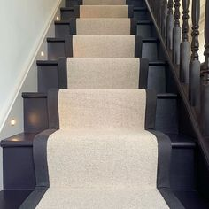 Staircase Remodel, Staircase Makeover, House Stairs, Carpet Stairs, Staircase Runner, Dark Staircase, Stairway, Runners For Stairs, Carpet Stair Runners