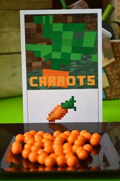 Carrots at a Minecraft Party #minecraft #partyfood