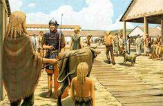 En sus orígenes, el comercio Romano no necesitaba usar una moneda, ya que en su lugar se utilizaba comúnmente el trueque como medio de transacciones