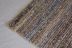 Купить вязаный коврик меланж экоцвет прямоугольный - серый, ковер ручной работы, прикроватный коврик
