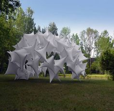 Textile pavilion at Ball State University in Muncie, Indiana, USA