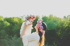 Mother daughter photography flower crowns029