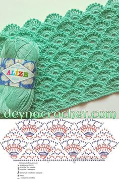 Beautiful Crochet Stitch: Chart/diagram I LOVE this color, and stitch pattern!!