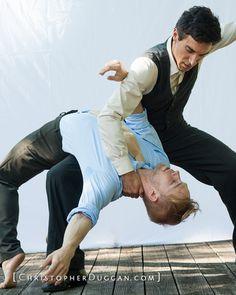 Choreographer Pontus Lidberg and Jens Weber of Morphoses / photo: Christopher Duggan