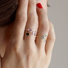 Photo : Bague Loulou - Or rose 18 cts, Tourmaline 5 Bijoux Or Rose, Romancing The Stone, Sequins And Stripes, Jewelry Accessories, Jewelry Design, Pink Tourmaline Ring, Pink Ring, Geometric Jewelry, Rose Gold Jewelry