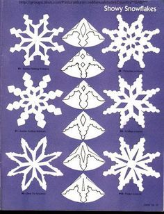 Love paper snowflakes but need some ideas to get started? Check out my earlier posts on 6 point snowflakes. Here are a few more template to help you design your own pattern                                                                                                                                                                                 More