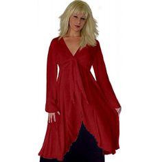PRE-ORDER - Ruffle Ties Jacket Top Blouse (Red)