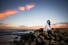 Incredible sunset shot. Wedding Photographer: Lin & Jirsa Photography.