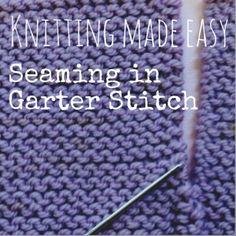 How-to Seam in Garter Stitch — NobleKnits Knitting Blog