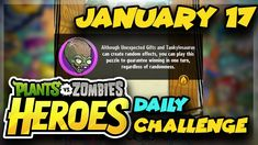Plants vs Zombies Heroes Daily Challenge January 17 2019 01/17/2019 Daily Challenges, Plants Vs Zombies, Coffee Break, Ph, January, Channel, Gaming, Youtube, Video Games