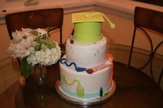 Pre school graduation cake - view of hat & tassle