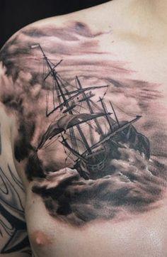 Realism Nautical Tattoo by Matt Oddboy