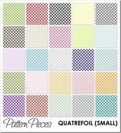 IMAGE - Pattern Pieces - Quatrefoil (Small) #graphic #photoshop #elements
