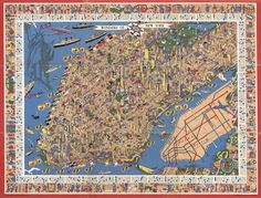 It's no secret that we love weird and fun maps over here, and this gem that's been making the rounds via 6sqft...