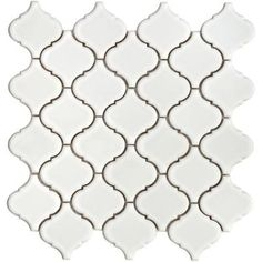 Merola Tile Lantern 12-1/2 in. x 12-1/2 in. x 5 mm White Porcelain Mesh-Mounted Mosaic Tile (11 sq. ft. /case)-DISCONTINUED-FKOLB10 at The Home Depot