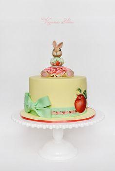 rabbit with apples - Cake by Alina Vaganova