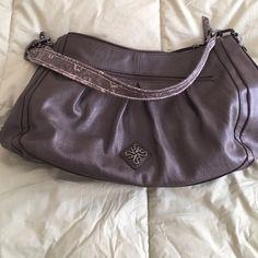 Roomy handbag w/ leopard shoulder straps Double zippered compartments Simply Vera Vera Wang Bags Shoulder Bags