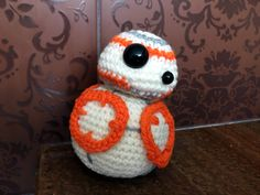 Crochet BB-8 Amigurumi, Star Wars, The Force, BB8, Droid, cute, baby, toddlers, plush, toy by CrochetJP on Etsy
